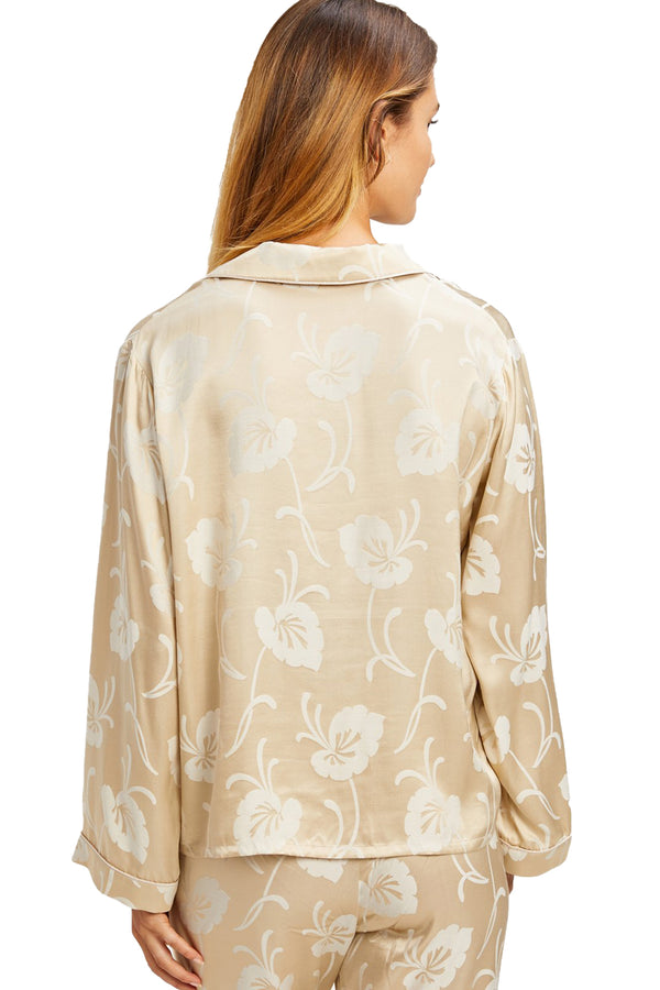 Jane Top in Creme with Lily Pad Print | Morgan Lane