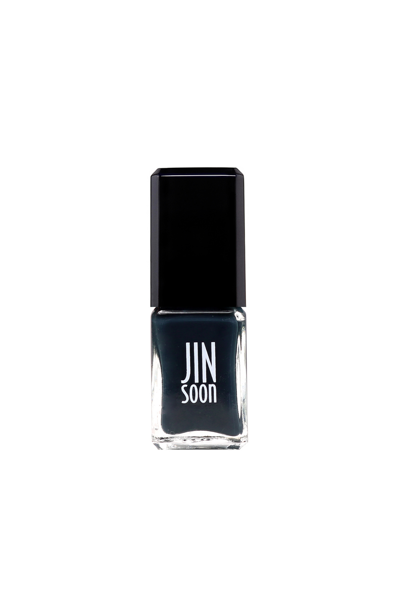 Dark Blue Nail Polish Bottle Lacquer by JinSoon