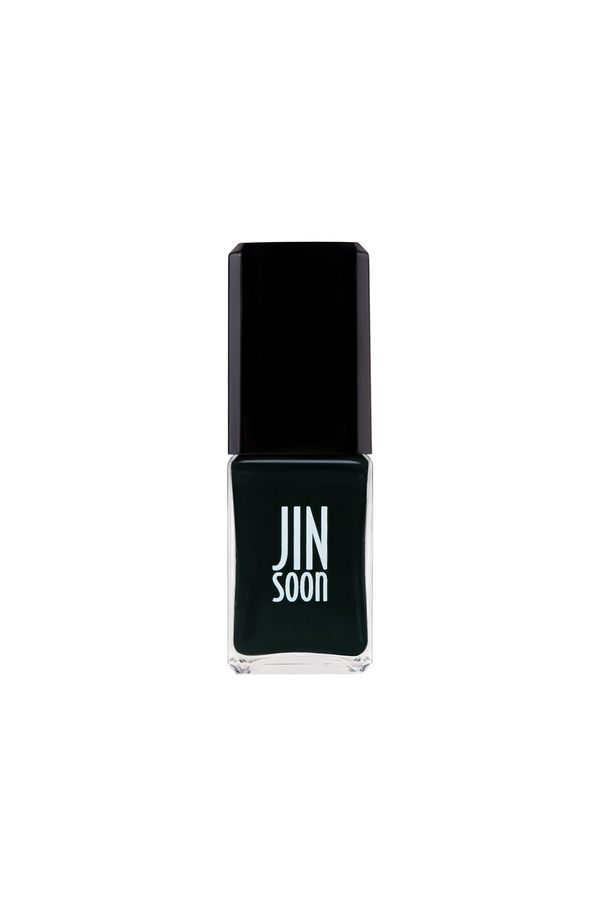 Chamonix black nail polish with textured finish by JINsoon