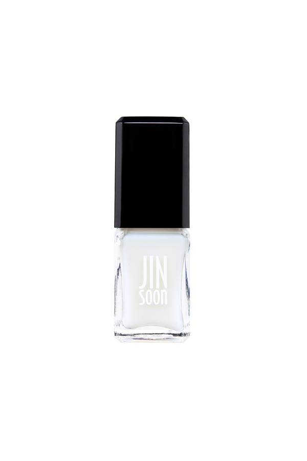 Sheer white nail polish in Dew by JINsoon