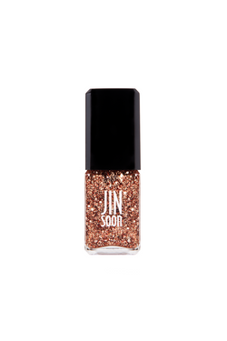 Rose gold sparkle nail polish in Gala by JINsoon