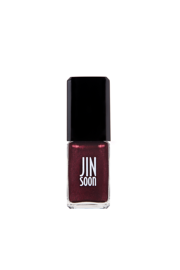 Dark red nail polish in Jasper by JINsoon