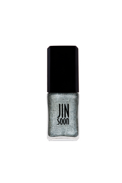 Grey-flecked silver nail polish in Melange by JINsoon