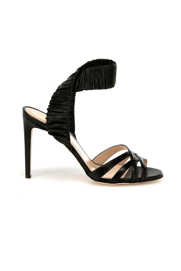 Black leather Julianne heel by Chloe Gosselin
