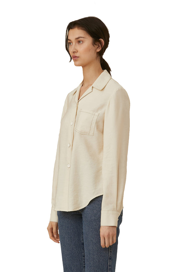 White long sleeve viscose blouse from LOROD