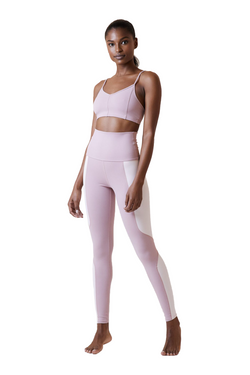 Geometric Legging in Mauve Buff by Live The Process