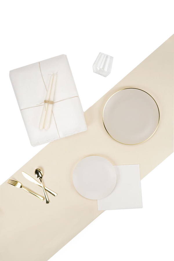 The Dinner Party Set in neutral and gold by L'entramise