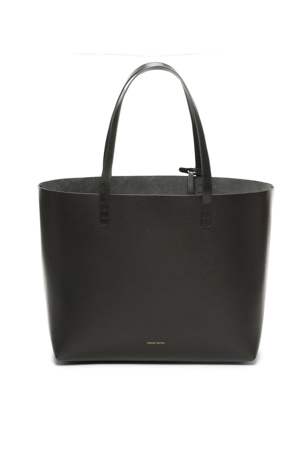 Large Black Leather Tote with Detachable Wallet by Mansur Gavriel