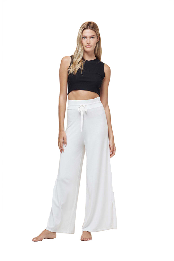 White Wide Leg Sweat Pant by Live The Process