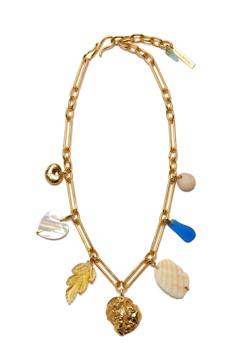 Gold Paradise Charm Necklace by Lizzie Fortunato