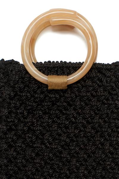 Black woven Mia Purse by Lizzie Fortunato
