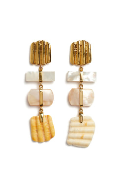 Tiered Botticelli Earrings by Lizzie Fortunato