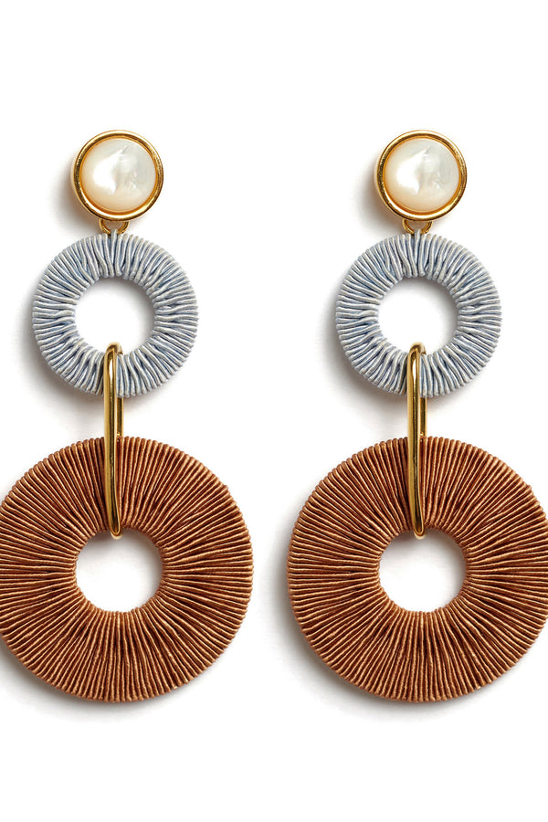 Corsica Column Earrings by Lizzie Fortunato