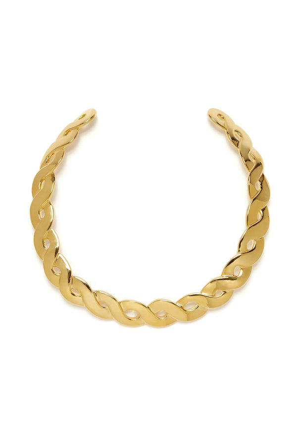Gold Braid Collar by Lizzie Fortunato