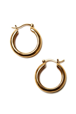 Large Gold Mood Hoops by Lizzie Fortunato