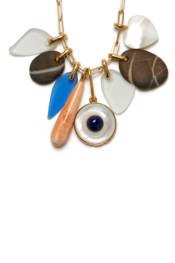 Mediterranean Charm Necklace by Lizzie Fortunato