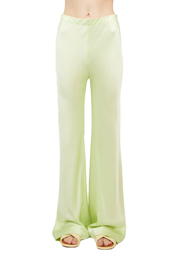Front view Lime colored Bias Trousers