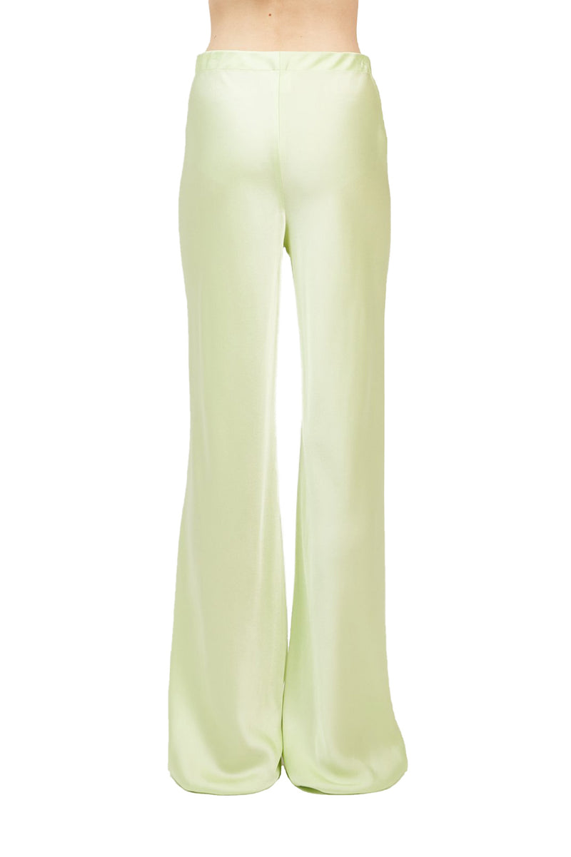 Back view Lime colored Bias Trousers