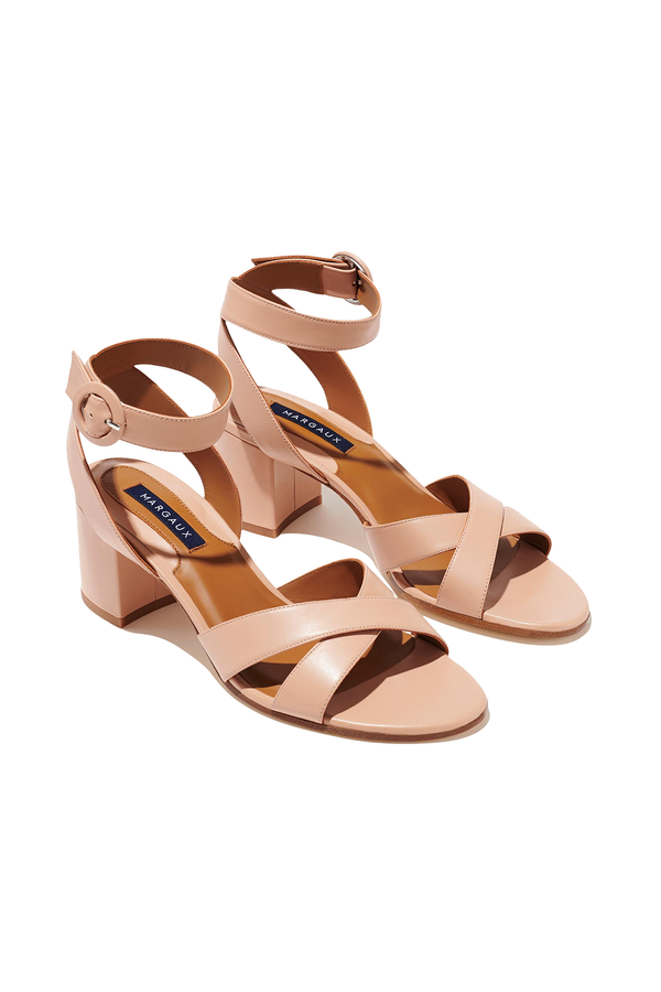 The City Sandal in Rose Nappa by Margaux