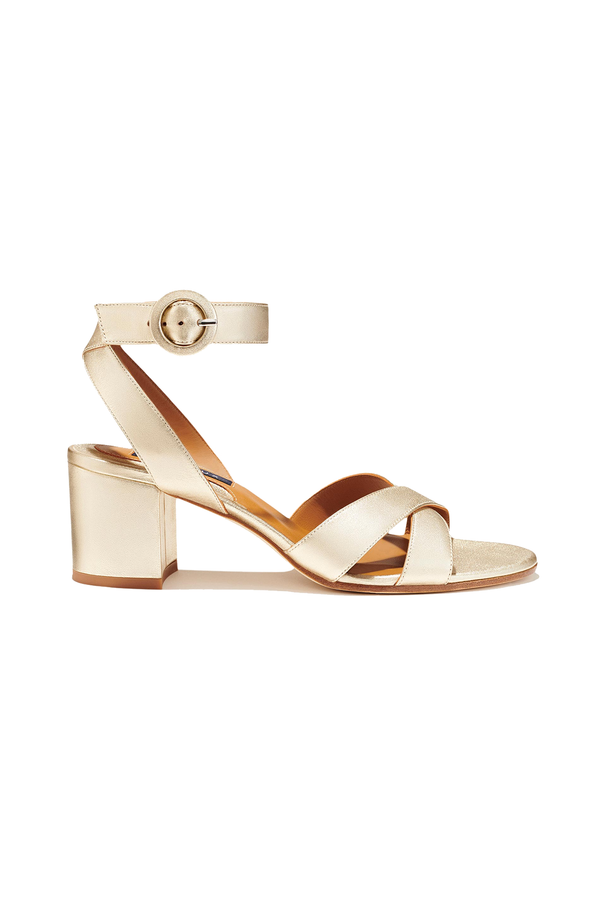 The City Sandal in Platinum by Margaux