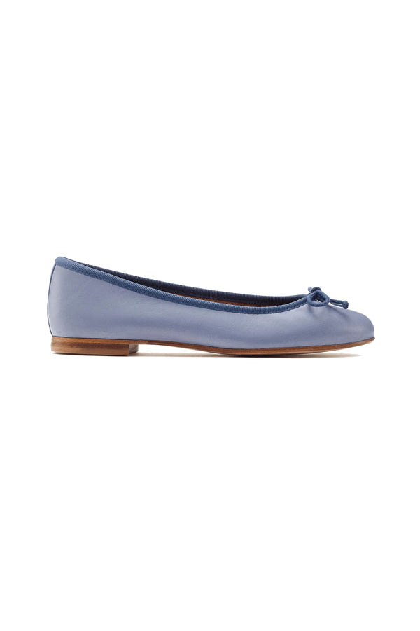 The Demi flat in Cerulean blue by Margaux