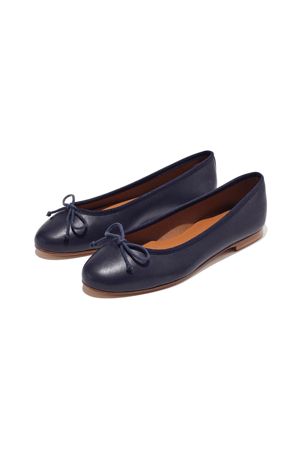 The Demi flat in Navy by Margaux