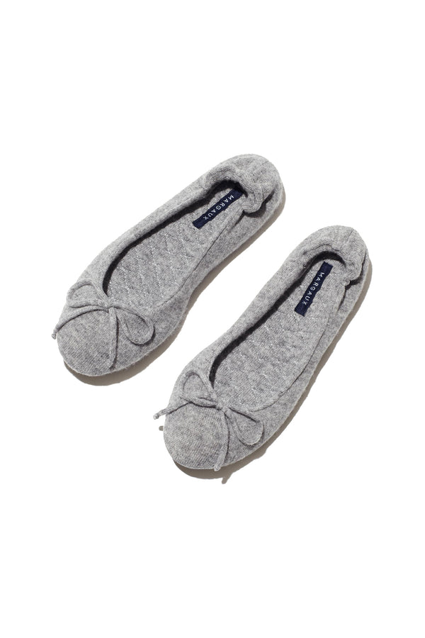 The Slipper in heather cashmere by Margaux