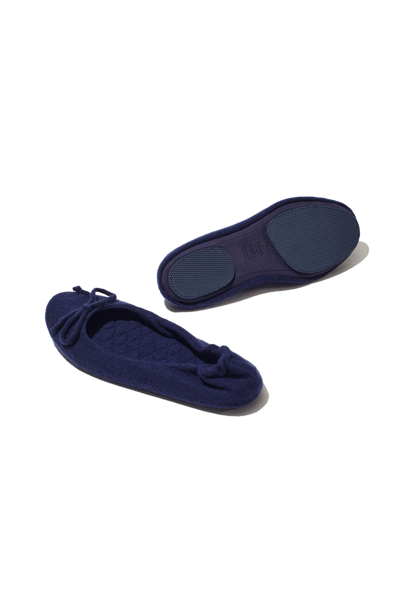 The Slipper in navy cashmere by Margaux