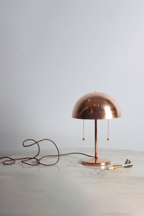 Simplistic Spun Brass Table Lamp by Michele Varian