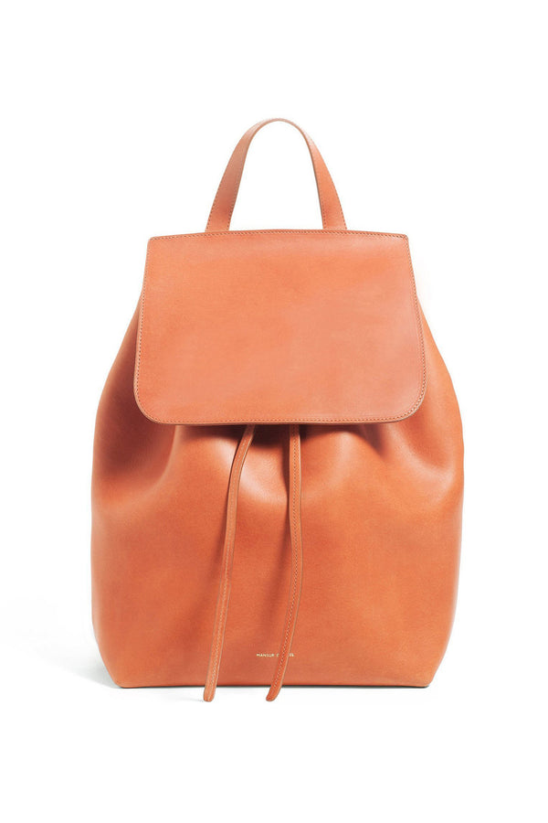 Brown Italian Leather Backpack by Mansur Gavriel
