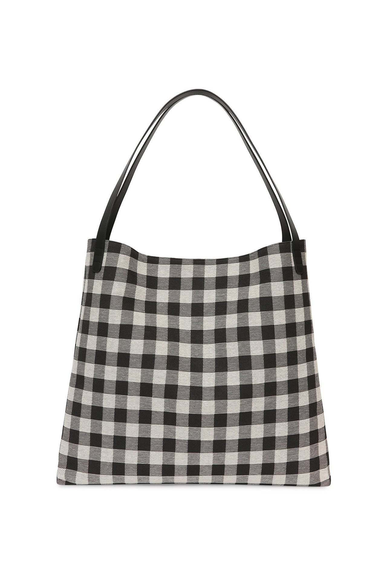 Checker Oversized Shoulder Hobo