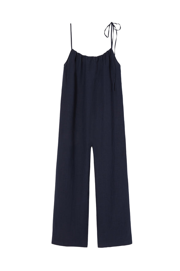 Blue Linen Jumpsuit by Mansur Gavriel