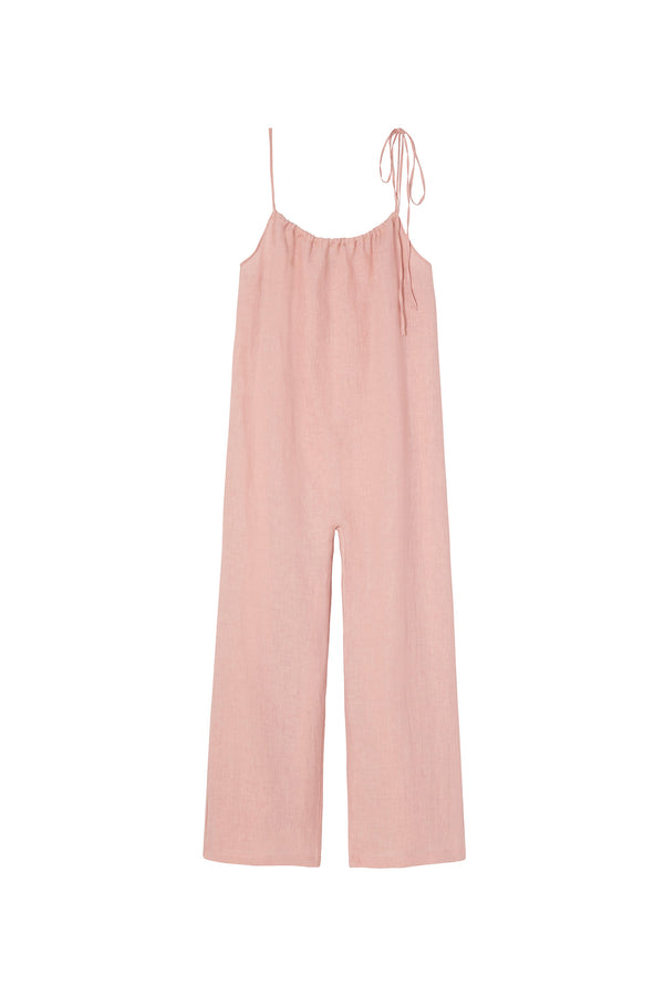 Blush Linen Jumpsuit by Mansur Gavriel