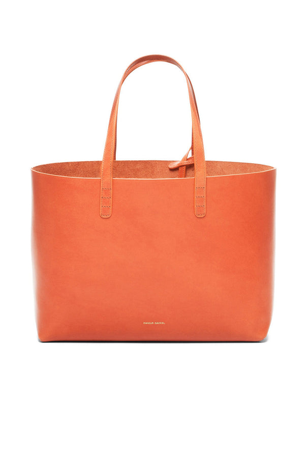 Raw Calf Leather Small Rectangular Tote by Mansur Gavriel