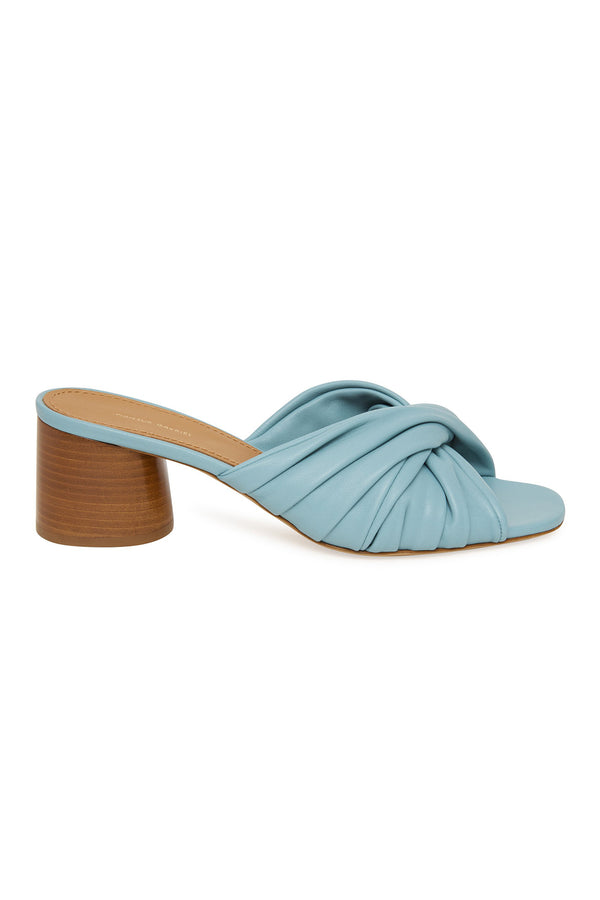 Ruched Mule in Degas Blue