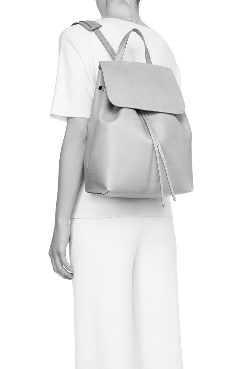 Brown Leather Backpack with Brick Interior by Mansur Gavriel