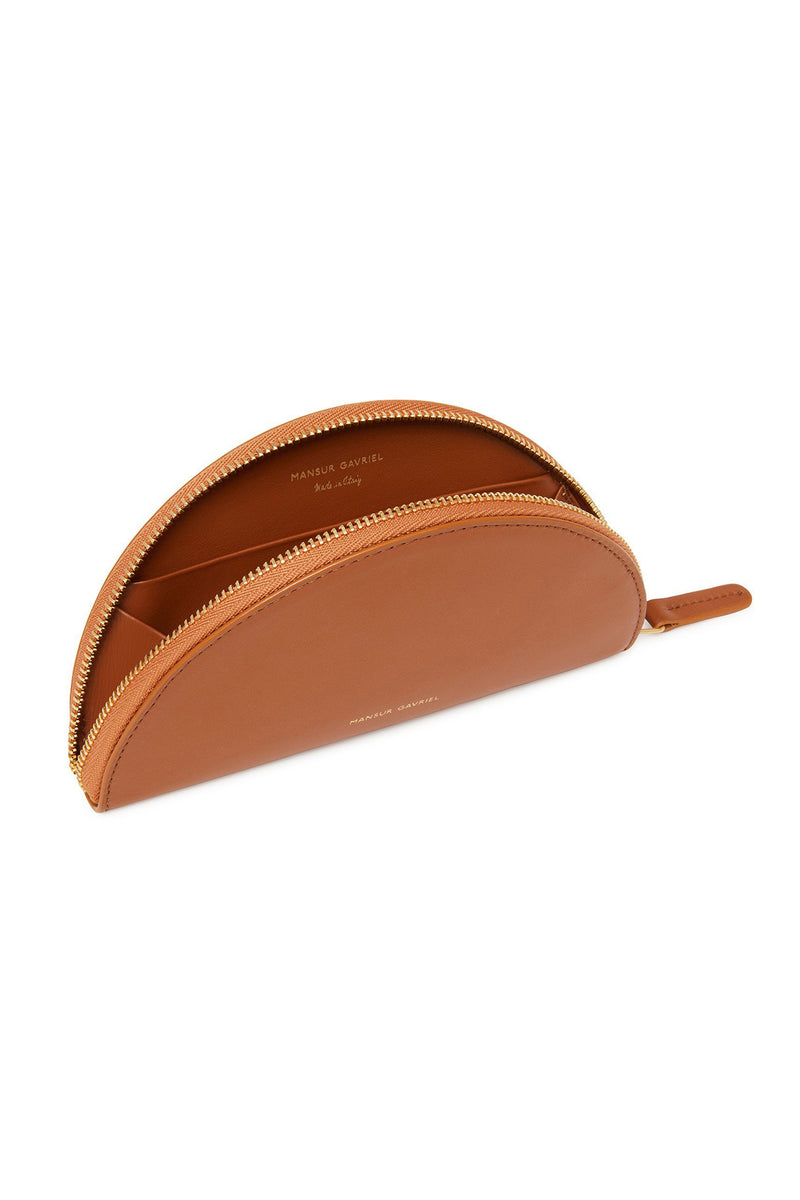 Saddle Calf Leather Mini Moon Wallet by Mansur Gavriel