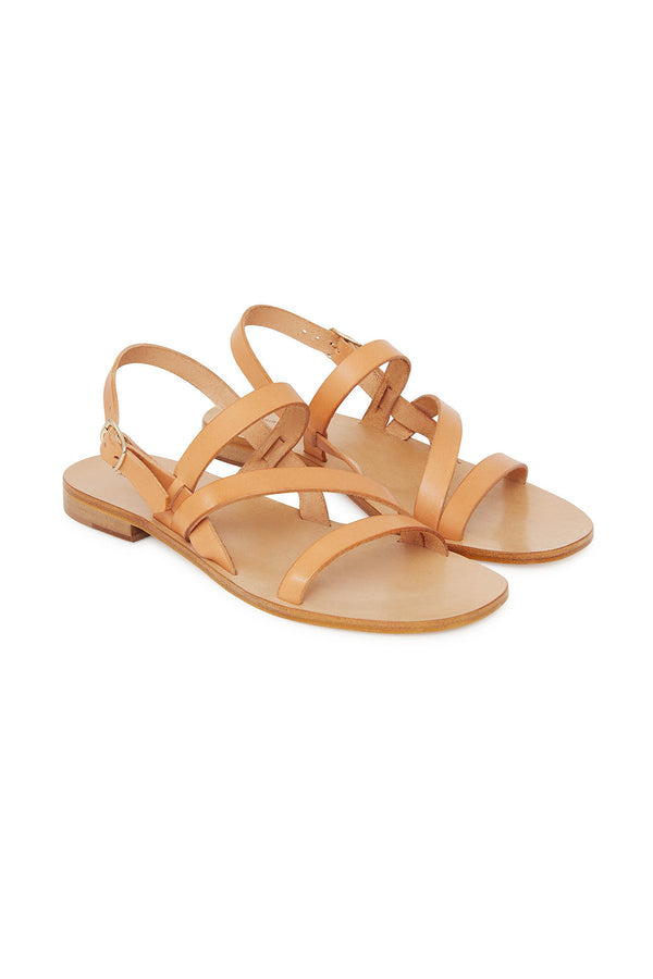 Umbria Cammello Strappy Sandal by Mansur Gavriel