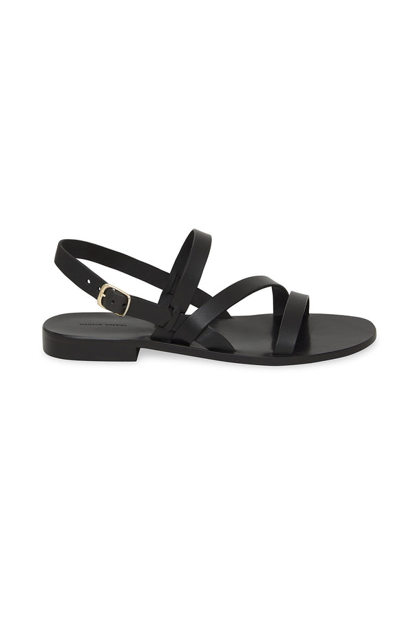 Umbria Black Strappy Sandal by Mansur Gavriel
