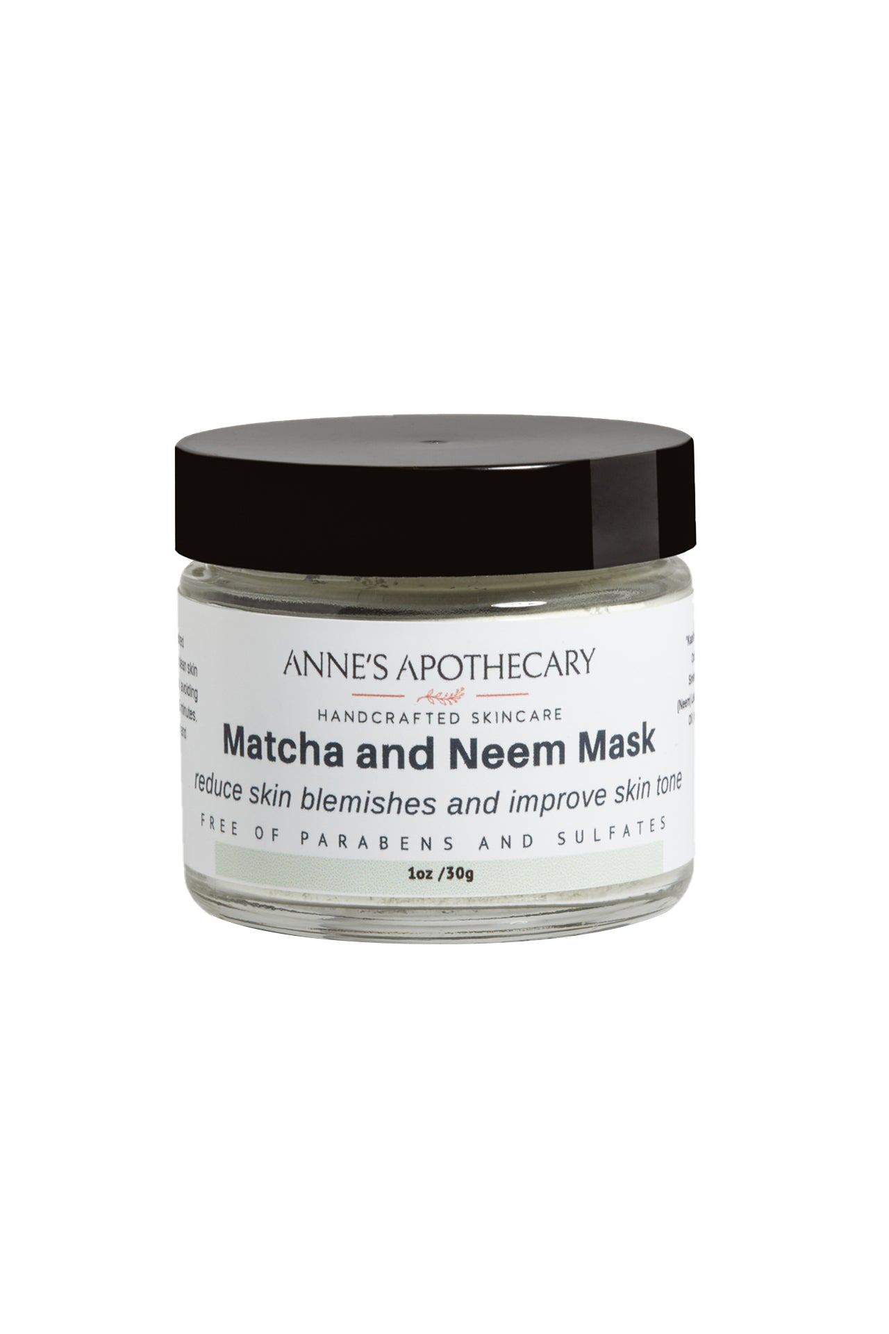 Clay Mask with Matcha and Neem Powder