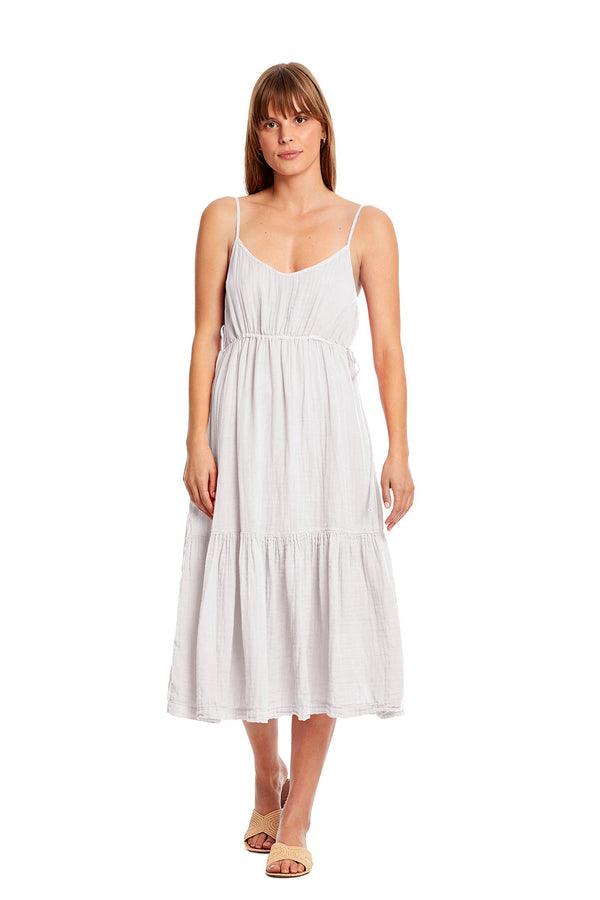 White Giovanni Midi Dress by Michael Stars
