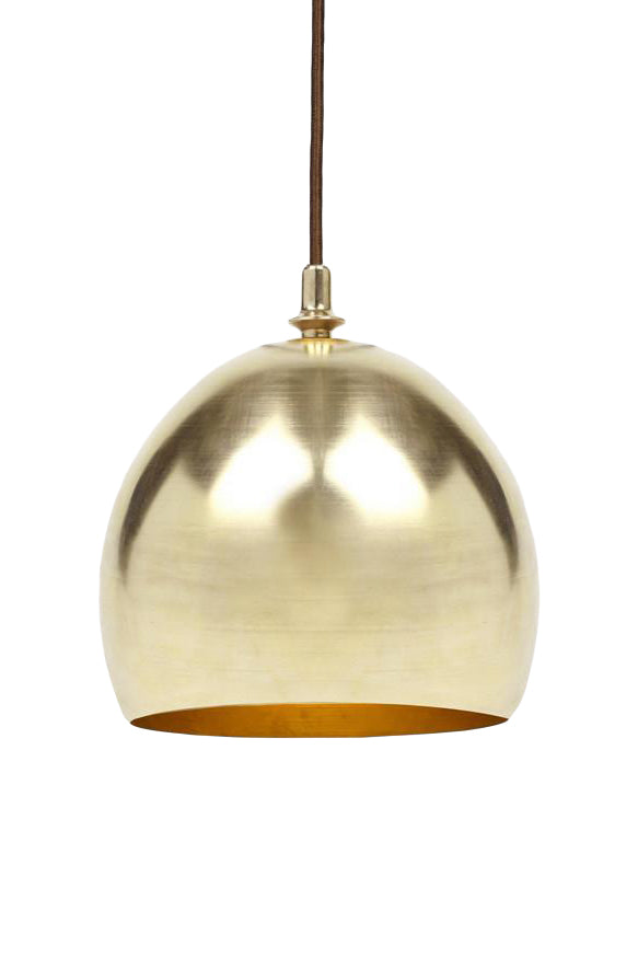 Brass Finial Dome Pendant Light by Michele Varian