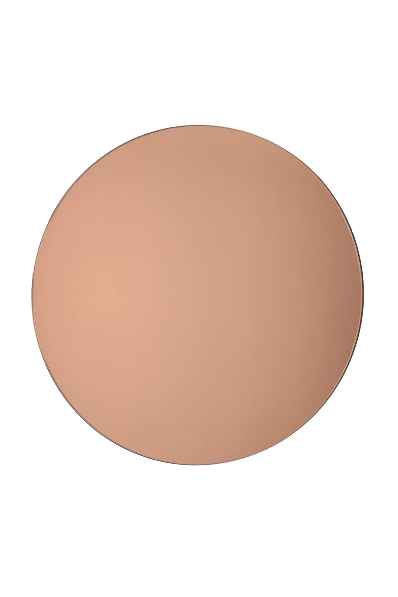 Large Rose Gold Round Mirror by Michele Varian
