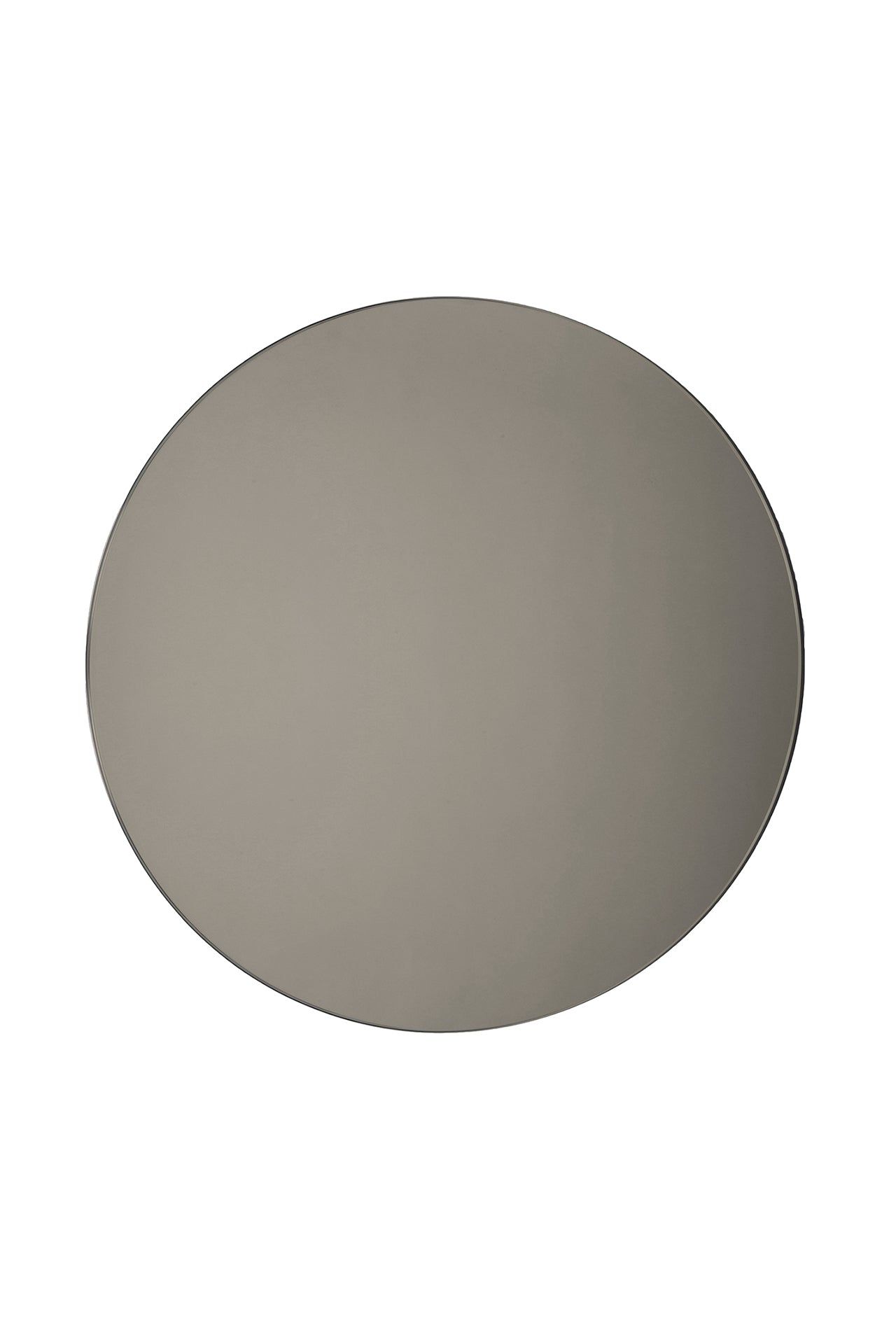 Large Smoke Round Mirror