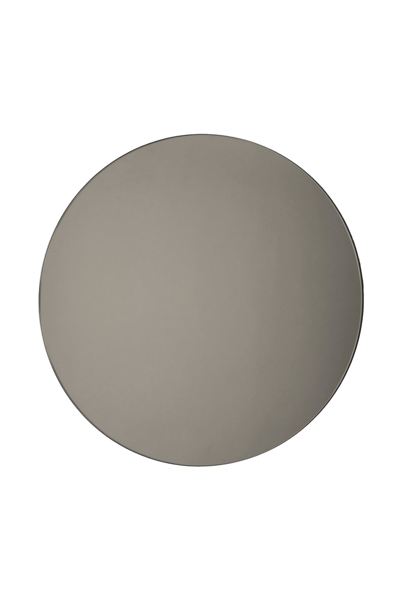 Small Smoke Round Mirror by Michele Varian