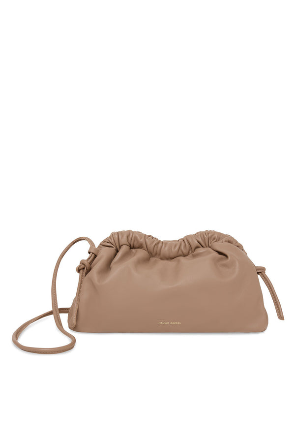 Mini Cloud Clutch in Biscotto | Mansur Gavriel
