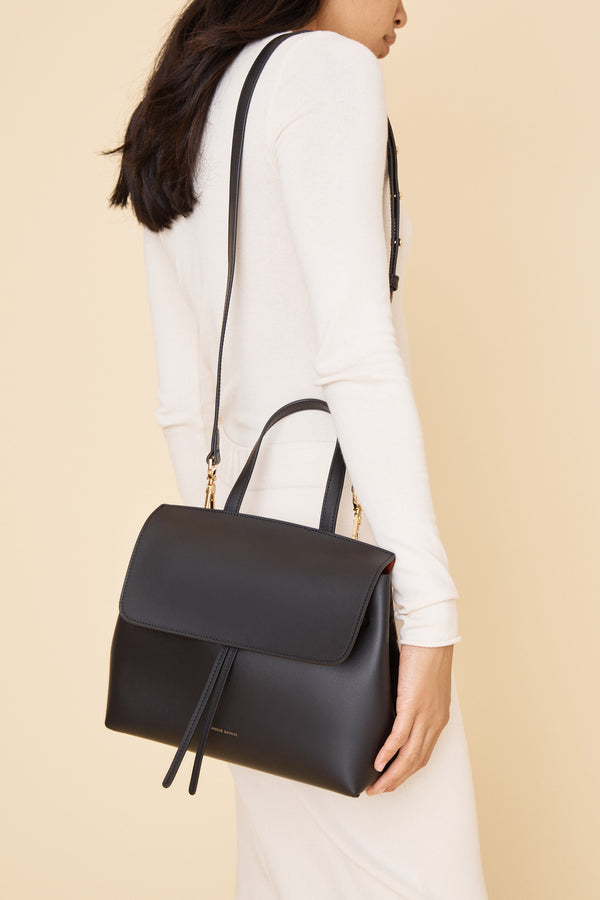 Mini Lady Bag in Black with Flamma | Mansur Gavriel