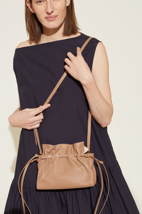 Mini Protea Bag in Biscotto with Creme | Mansur Gavriel