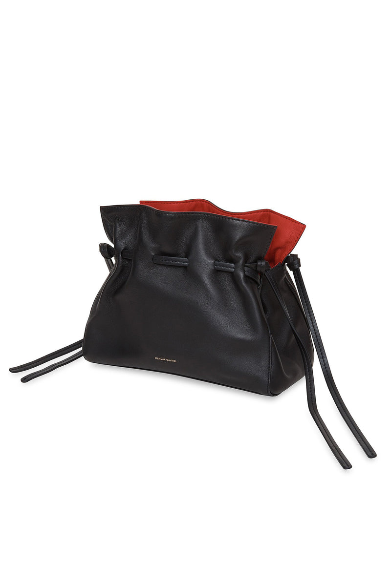 Mini Protea Bag in Black with Flamma | Mansur Gavriel