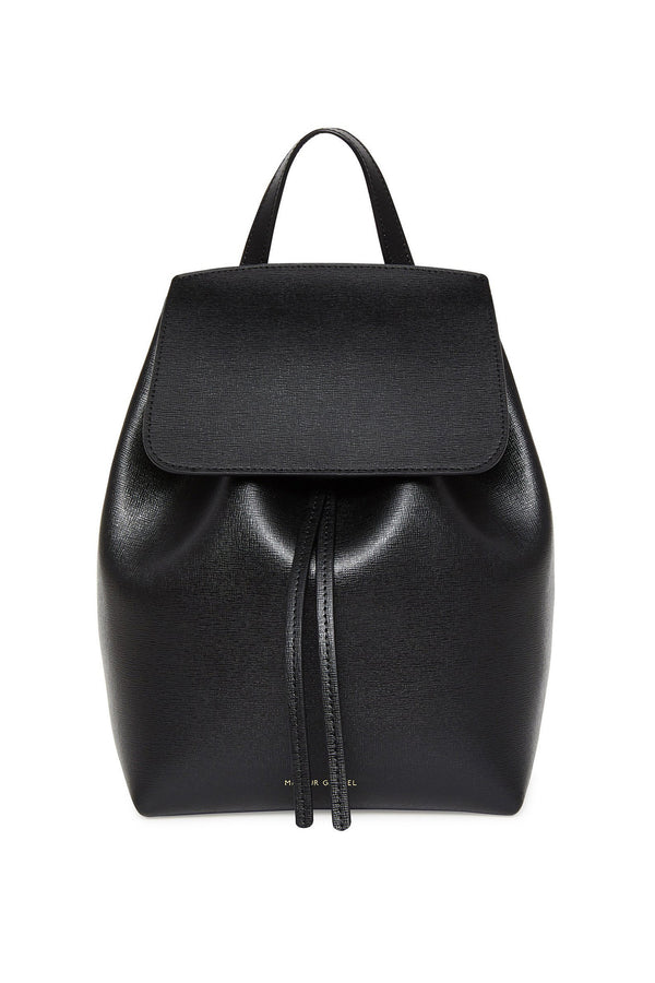 Black Leather Backpack with Matte Red Interior by Mansur Gavriel